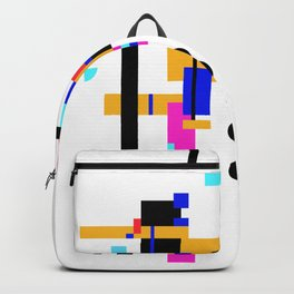 Abstract minimalism collage Backpack