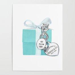 Blue Jewellry Box Poster