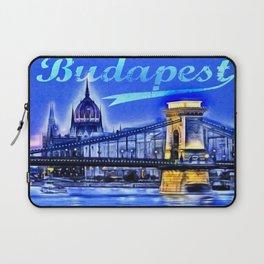 Budapest, blue Laptop Sleeve