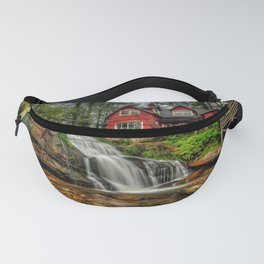 USA Mill Shoal Falls Pisgah National Forest North Carolina Nature Waterfalls Stones Houses stone Building Fanny Pack