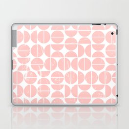 Pink Peach Circle 70s Pattern | Fun | Happy Pattern Laptop & iPad Skin