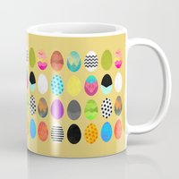 easter Mugs featuring Easter eggs by Elisabeth Fredriksson