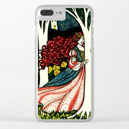 Forest Princess Clear iPhone Case