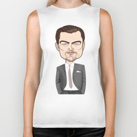leonardo dicaprio Biker Tanks featuring Leonardo DiCaprio by Studio Drawgood