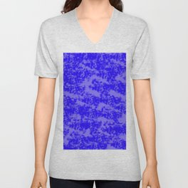 Blue Abstract Unisex V-Neck