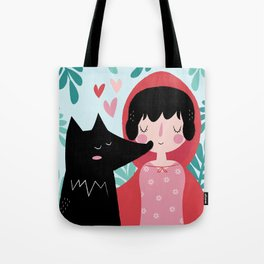 Red Riding Hood and the Wolf Tote Bag