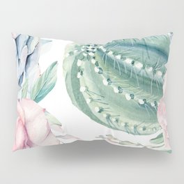 Cactus Rose Succulents Garden Pillow Sham