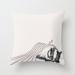 Snoozy Badger Throw Pillow