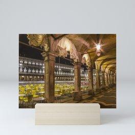 VENICE St Mark's Square at Night Mini Art Print