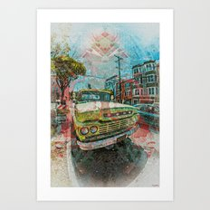 Old schooler Truck off the Mission District San Francisco Art Print