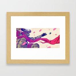 SOS Sakura Framed Art Print