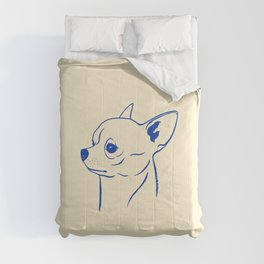 Chihuahua (Beige and Blue) Comforters