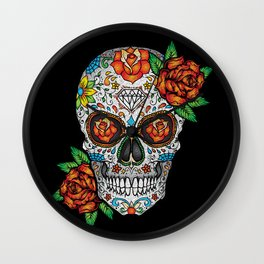 Sugar Skull, Day Of The Dead Wall Clock