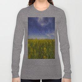 Yellow Fields Of Summer Art Long Sleeve T-shirt