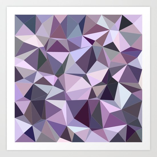 Happy purple triangles Art Print