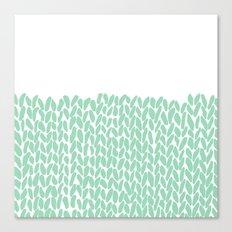Half Knit Mint Canvas Print