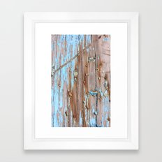 Turquoise Beach Wood II Framed Art Print