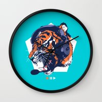 dj Wall Clocks featuring DJ Wildcats by Steven Toang
