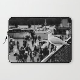 Perched seagull in Paris, France (Jardin des Tuileries) Laptop Sleeve