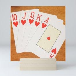 Royal flush - the holy grail of poker Mini Art Print