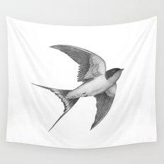 Barn Swallow - mono Wall Tapestry