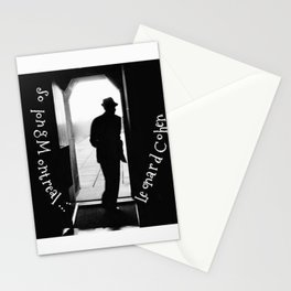 So long Montreal... Leonard Cohen Stationery Cards