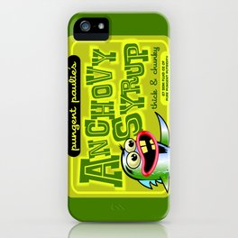 pungent paulie's anchovy syrup iPhone Case