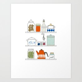 Scandinavian Pantry Art Print