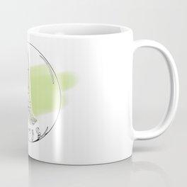 paris in a glass ball . green pastel colors Coffee Mug