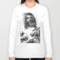 neil gaiman Long Sleeve T-shirts featuring Simon Neil by Vinny Ten Legs