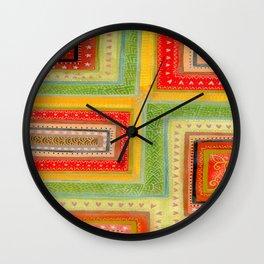 Autumnal tangle tracks Wall Clock