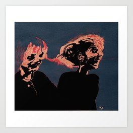 Two Old Supermodels  Art Print