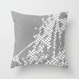 Screened Abstract Throw Pillow