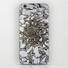 triangular foldings iPhone Skin