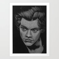 harry styles Art Prints featuring Harry Styles by Jen Eva