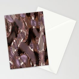 Music Mettalic Stationery Cards