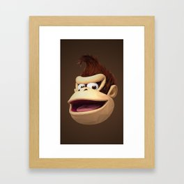 Triangles Video Games Heroes - Donkey Kong Framed Art Print