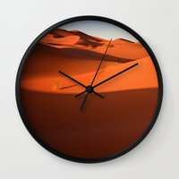 desert Wall Clocks featuring Desert by GF Fine Art Photography