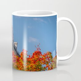 Ohio State Stadium Crimson Leaves Print Coffee Mug