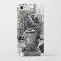 lou reed iPhone & iPod Cases featuring Lou Reed Lion by Jack O'Dowd