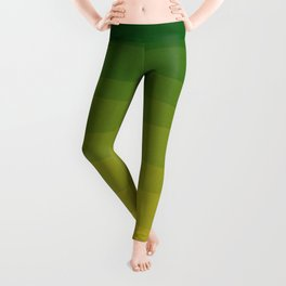Shades of Grass - Line Gradient Pattern between Lime Green and Bright Yellow Leggings
