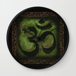 OM Tibetan Green Wall Clock
