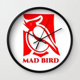 mad bird Wall Clock