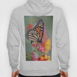 A Monarch on Milkweed Hoody
