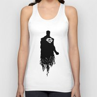 justice league Tank Tops featuring Justice Silhouette #3 by iankingart