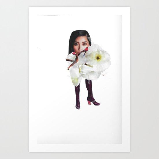 Flower Boot Art Print