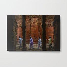 Circling Qutub Minar Metal Print