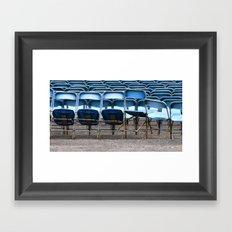 Blue chair Framed Art Print