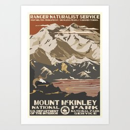 National Parks 2050: Denali Art Print