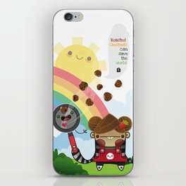 Roasted Chestnuts can save the world!!! iPhone Skin